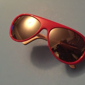 Vintage red and white sunglasses